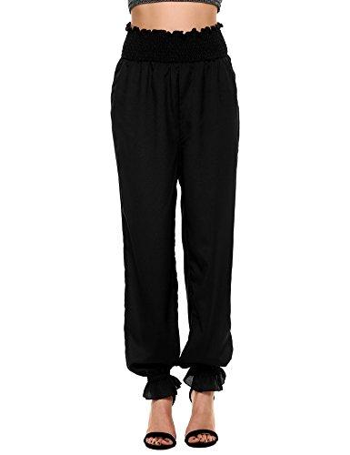 Ruffle Black Hot Pant - 9