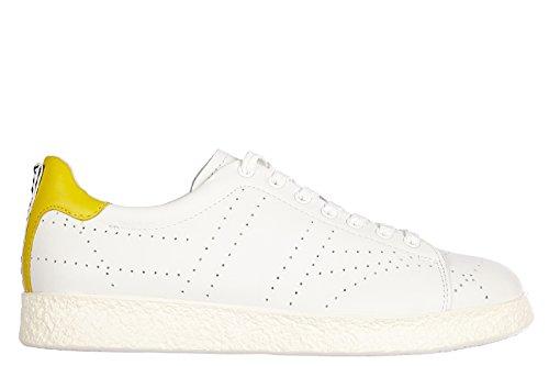 Bikkembergs chaussures baskets sneakers homme en cuir best 318 blanc