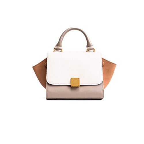 Femmes Sac Contraste Couleur Ailes Sac à Main Mode Sauvage épaule Messenger Bag 3 Couleurs (22 * 18 * 12 cm) (Couleur : Gray)