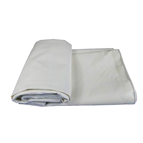 ATR Tent Tarps Super Heavy Duty Waterproof Tarp -0.4mm 500g / m\ Thick-White Reversible Tarpaulin for Outdoor use