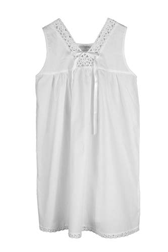 Handmade Girls' Embroidered Night Dress White - Age 2-9 - 3 Styles (Ages 7-9, Tatting Lace)