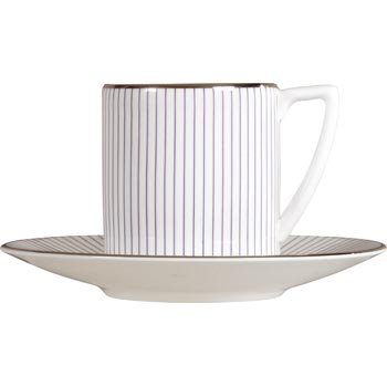 Wedgwood Jasper Conran Pinstripe Espresso Cup Saucer (Saucer Only) -