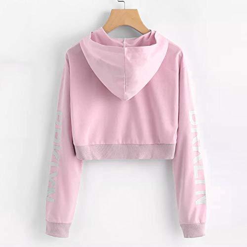 Hoodie Blouse Long Sleeve Pullover Letters Sweatshirt Womens Tops Morwind Pink pAIwZqT