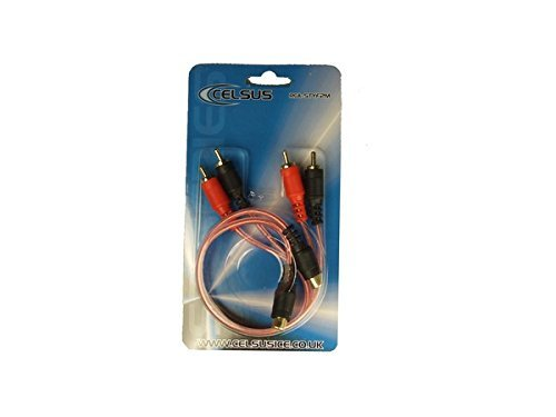 CELSUS RCA-STYF2M Connect ST Series Phono Cable Female to Male Leads