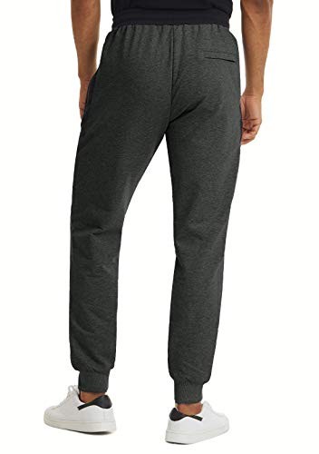 KEFITEVD Pantalon de Jogging pour Hommes Pantalon de Course Pantalon de Survêtement de Sport avec 3 Poches Zippées