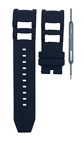 26mm Black Rubber Watch Band Replacement Strap for Invicta Russian Diver | Free Spring Bar Tool ()