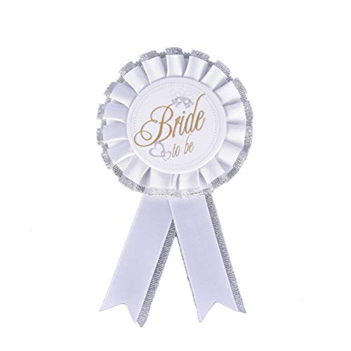 Chicken Party - Bride To Be Broom Badge Rosette Bachelorette Party Wedding Cloth Accessory Beautiful Style Arrival - Memory Organizer Badge Tribe Hand Make Ring Tshirts Crown Jewelry Yard -
