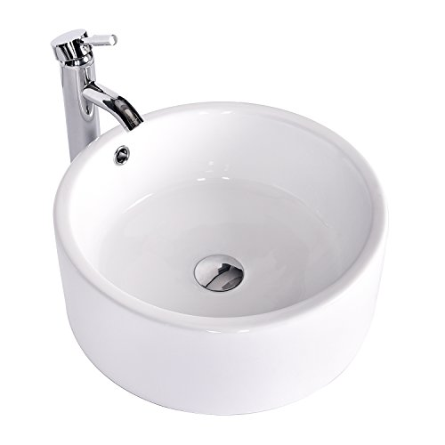 Find Cheap Bathroom Ceramic Vessel Sink Brass Faucet Combo Lavatory Modern Pop Up Drain Contemporary...