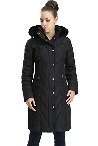 BGSD Women's Addi Waterproof Down Parka Coat - Black ()