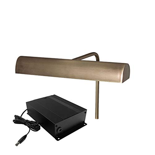 10 Classic Picture Light with 4 Battery Pack - Antique Brass
