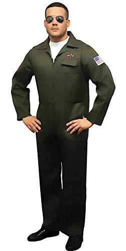 Mens Flight Suit Aviator Gents Force Uniforms Jumpsuits Costume Air Outfit Fancy
