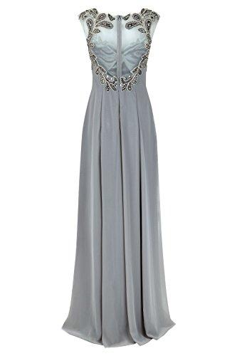 mit Kleid Dalas lange Damen Style Dynasty 1012725 Stone Schal Stone nxRZXWq