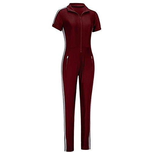 Nanquan Women Crewneck Bodysuit Long Sleeve Bodycon Print Rompers Jumpsuit
