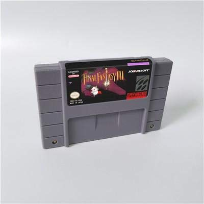 Game card - Game Cartridge 16 Bit SNES , Game Final Fantasy III 3 - RPG Game Cartridge Battery Save US Version