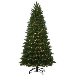 Vickerman 34397 - 7.5' x 56 Oregon Fir 600 Warm White LED Lights Christmas Tree (S130276LED)