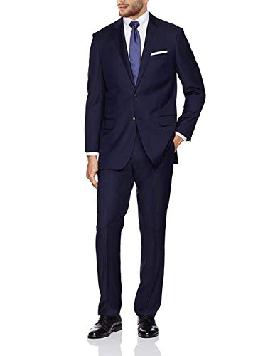 GN GIORGIO NAPOLI Presidential Men's 2 Button Suit Separate Coat Blazer (40 Short US / 50 Short EU, Navy) ()