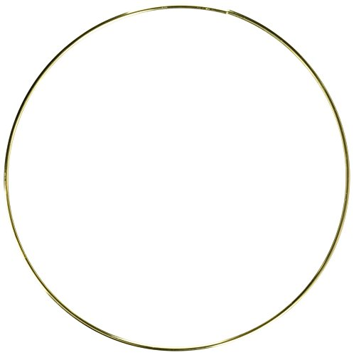 Darice Gold 12 inches Metal Ring, (Large Gold Hoop)