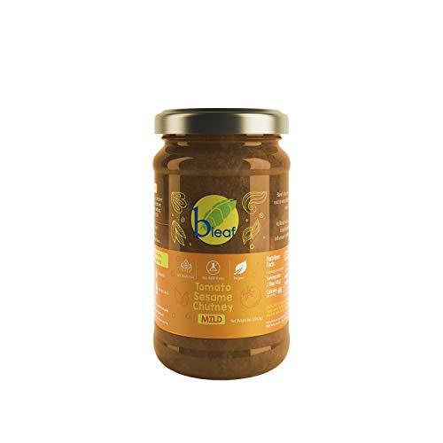 Bleaf Chutney - Tomato Sesame (Mild) - 8 Ounces / 226.8 grams | All Natural, Gluten Free, Vegan, Authentic, No Preservatives