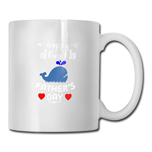 Riokk Az Happy First Father 's Day 11oz Coffee Mug Funny Cup Tea Cup Birthday Gift ()