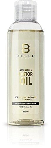 Belle® 100% natural aceite de ricino prensado en frío – Reconstruye el estructura del
