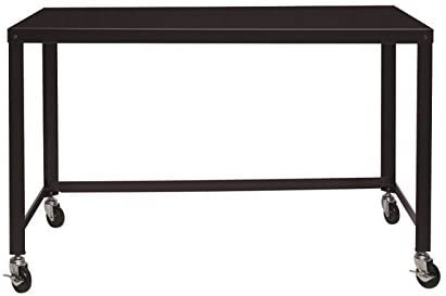 Editors' Choice: Hirsh Ready-to-Assemble 48-inch Wide Mobile Metal Desk Black