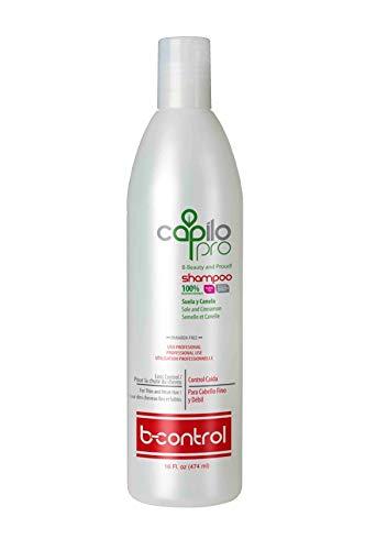 Cinnamon Shampoo Moisturizing - Capilo Pro B-Control Shampoo w/Sole and Cinnamon (16 oz Bottle); Paraben Free, Salt Free, Sodium Sulfate Free, Mineral Oil Free and Petrolatum Free