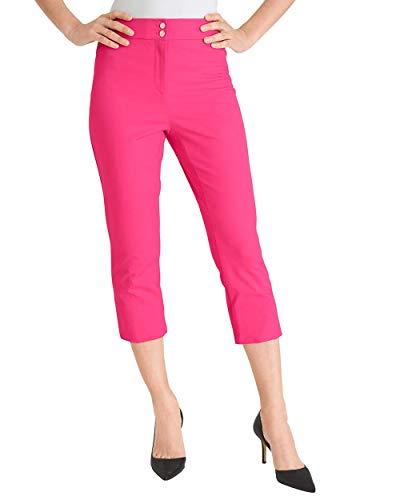 Chico's Women's Secret Stretch Straight-Leg Crops Size 16/18 XL (3) Pink