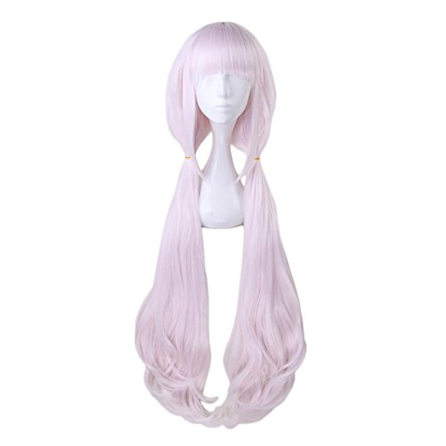 Anime 100cm Long Light Pink Cosplay Wig with Double Ponytails Women Girls' Party Wigs -