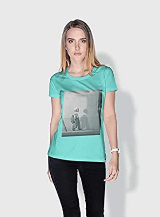 Creo Kid Skulls T-Shirts For Women - S, Green