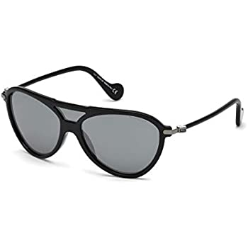 5cb0de28c0 Amazon.com  Moncler ML0073 Shiny Black Dark Grey 51 20 150 Unisex ...