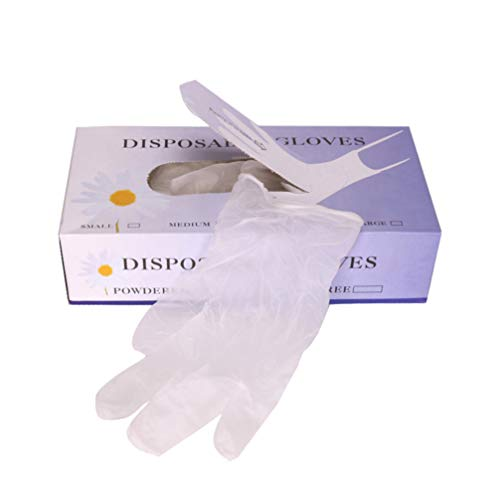Minkissy 30 Pair Disposable Rubber Gloves Transparent Latex Gloves Food Prep Gloves for Kitchen Nail Art Beauty