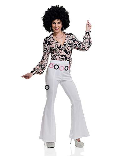 Charades Women's 1970's Paisley Costume Disco Shirt,
