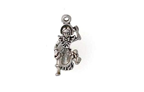 Pendant Jewelry Making/Chain Pendant/Bracelet Pendant Sterling Silver 3-D Little Miss Muffet Charm ()