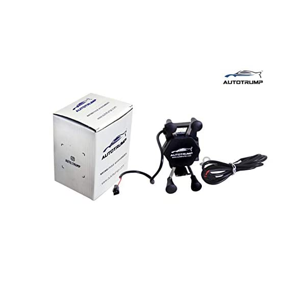 AUTOTRUMP Motorcycle Bike USB Charger and Universal X-Grip Cell Phone Holder for Honda CBR150R