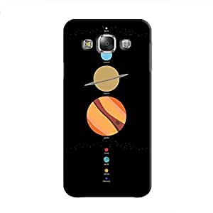 Cover It Up - School Project Planets Galaxy E5 Hard Case