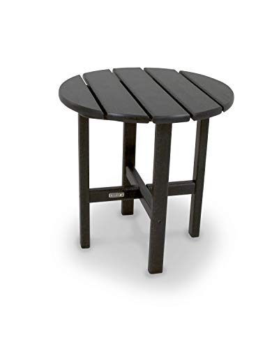 Ivy Terrace IVRT18BL Classics Round Side Table, 18-Inch, Black (20 Furniture Year Warranty Patio)