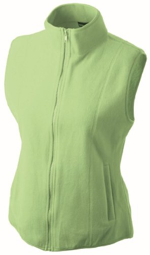 James & Nicholson JN048 Womens Girly Fit Micro Fleece Gilet/Bodywarmer lime green Size M