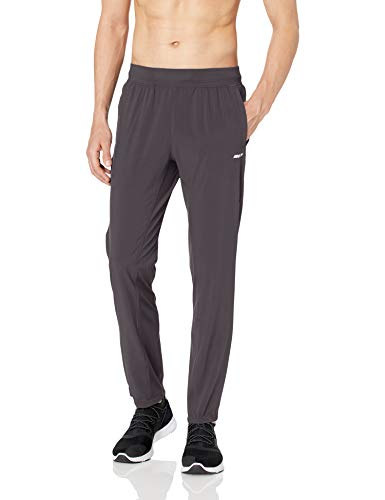 Amazon Essentials Men's  Stretch Woven Training Pant, Charcoal, Large