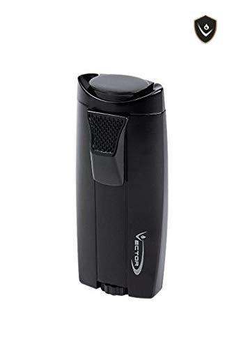 - Vector KGM Legend Double Jet Torch Lighter (Black Matte)