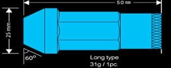 Godspeed Forged Aluminum 29g Type 3 50mm Lug Wheel Nuts 20 Pcs Set M12x1.5mm Black Color