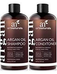 Art Naturals Organic Moroccan Argan Oil Shampoo and Conditioner Set (2 x 16 Oz) - Sulfate Free - Volumizing & Moisturizing,...