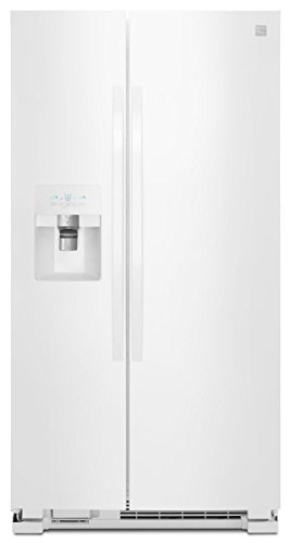 Kenmore 51112 25 cu. ft. Side-by-Side Refrigerator with Ice and Water Dispenser, White