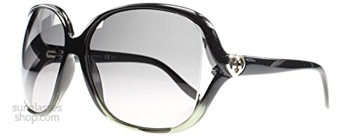 Gucci Women's 3500/S Rectangle Sunglasses,Black & Grey Frame/Grey Gradient Lens,One Size