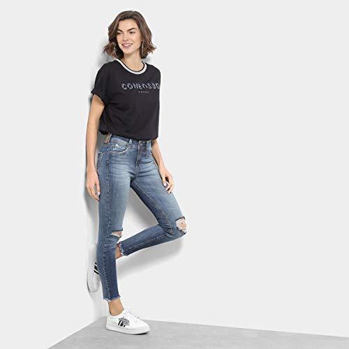 ddb2da0d5 Camiseta Colcci Confused Gola Listras Feminina  Amazon.com.br  Amazon Moda