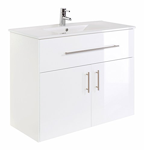 Emotion Domino 1000 Bathroom Standing Vanity Unit White High-Gloss (Gloss High Modern)