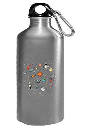 Funny Solar System - Planets Astronaut - Humor - Water Bottle by Stuch Strength LLC