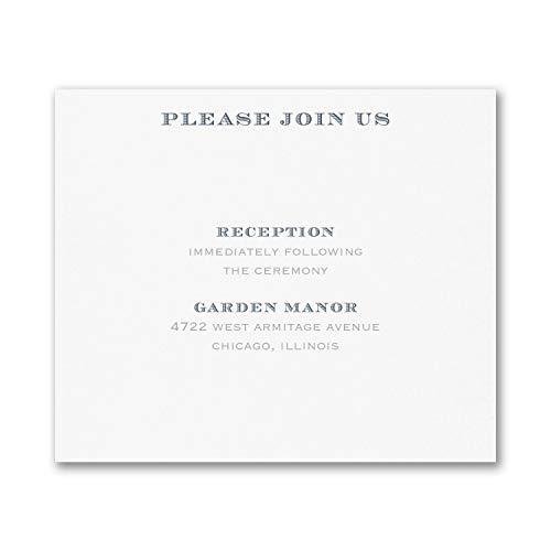 75pk Passionate Monogram - Reception Card-Reception Cards ()