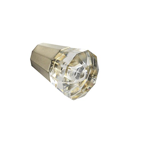 Brainerd #P23213W-116-C - 1 in. (26mm) Melrose Acrylic Octangular Knob - Satin Nickel and Clear
