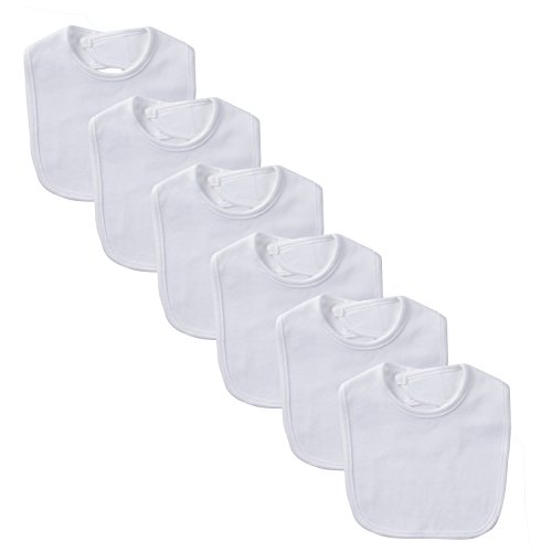 - Gerber Unisex-Baby Newborn Dribbler Bib Bundle White, One Size (Pack of 6)
