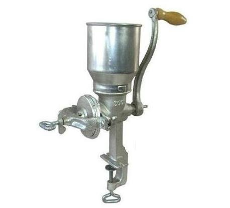 Tall Cast Iron Corn, Nuts, Grain Mill grinder Heavy hand crank manual adjustable